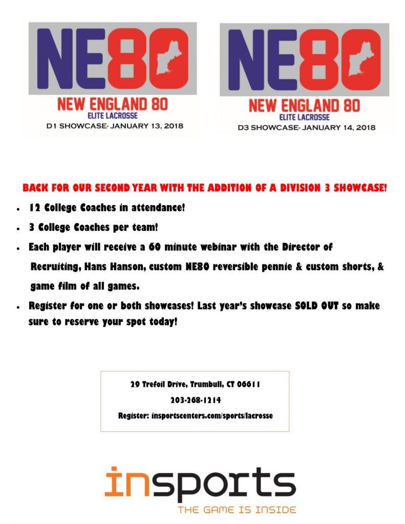 NE80 Lacrosse Showcases