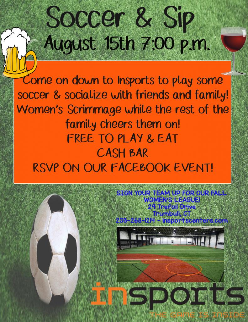 Soccer & Sip Launch for Women's Soccer