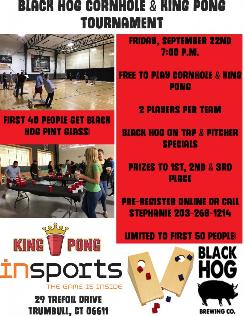 black hog cornhole & king pong